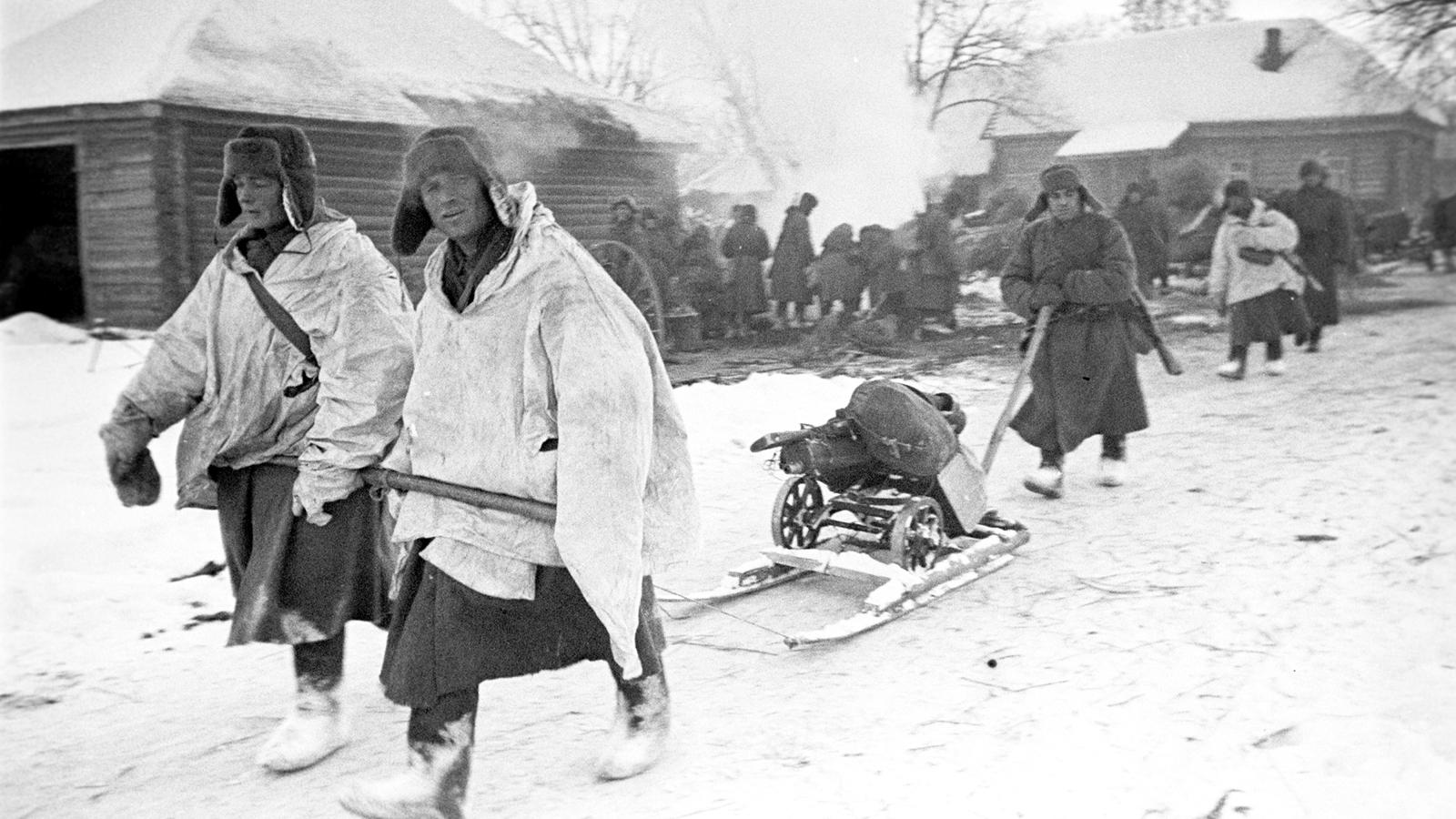 1941 Год. Битва под Москвой. Западный фронт. Декабрь. Фото: архив