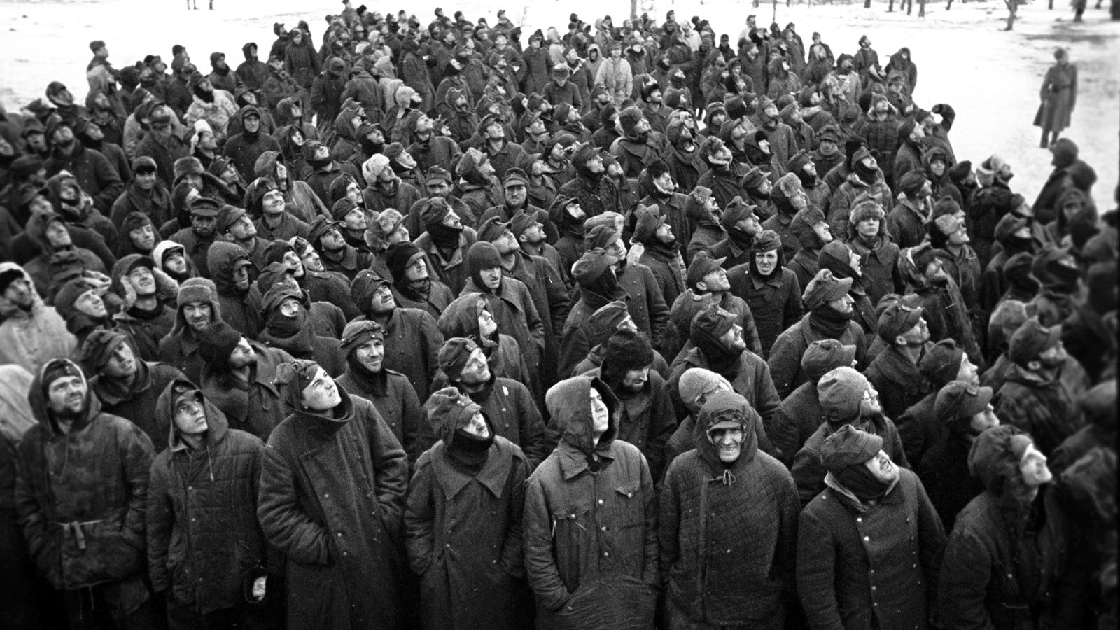 1944 Год. Пленные немцы. Фото: архив