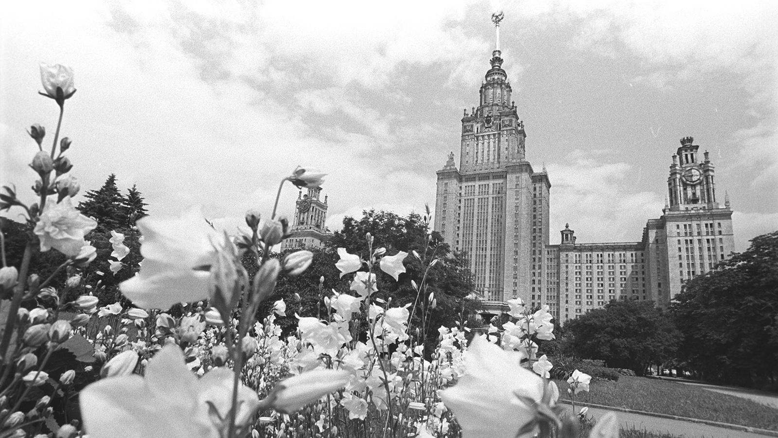 1947 год. 26-этажное здание МГУ на Воробьевых (Ленинских) горах