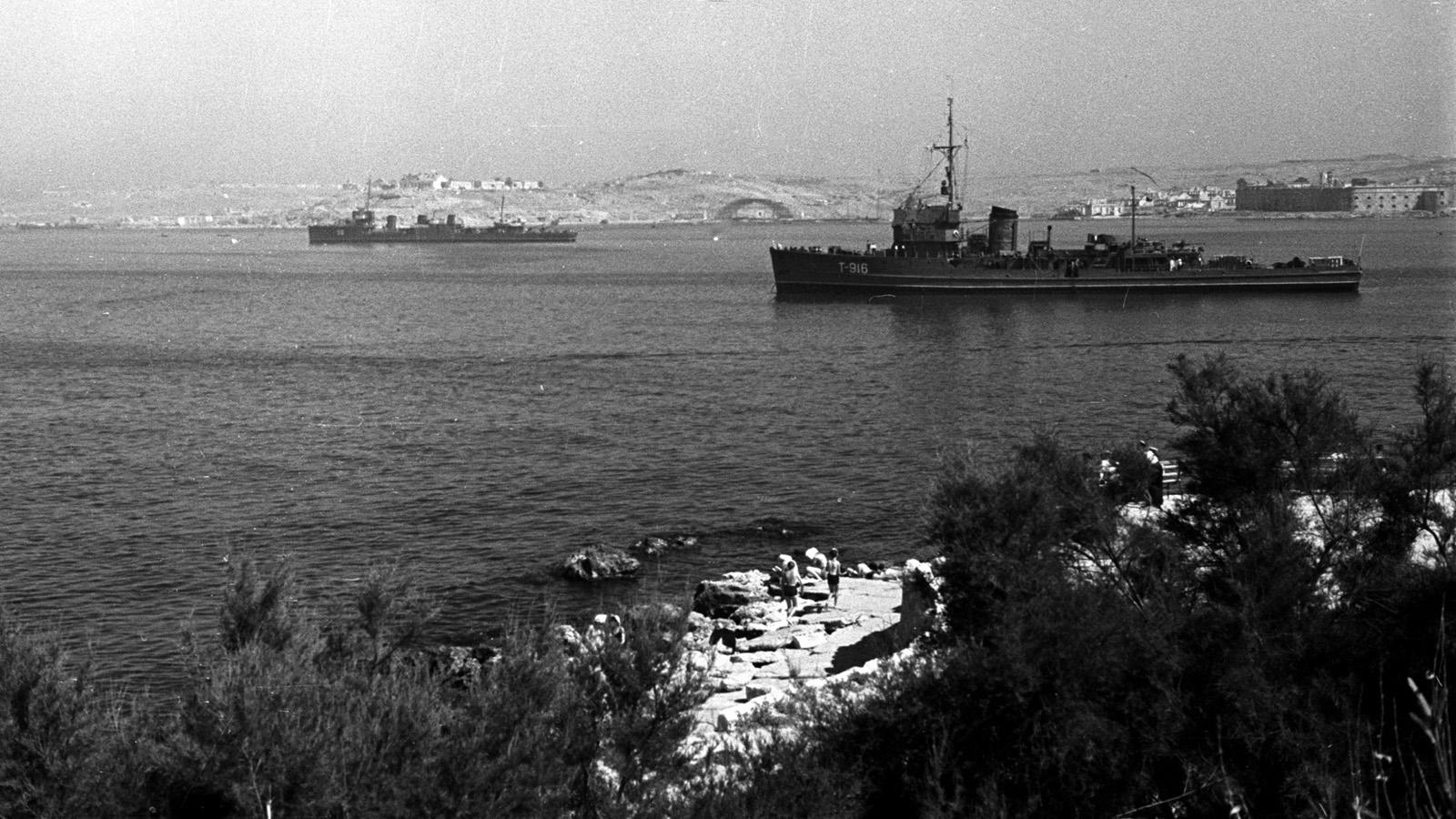 1954 год. Празднование Дня военно-морского флота в Севастополе