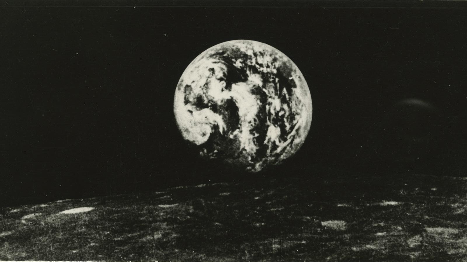 1966 год. Земля с поверхности луны