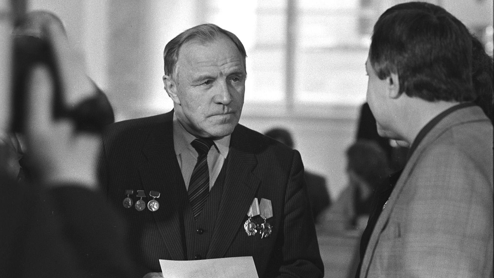 Актер Михаил Ульянов. Москва, XXVII съезд КПСС. Фото: архив